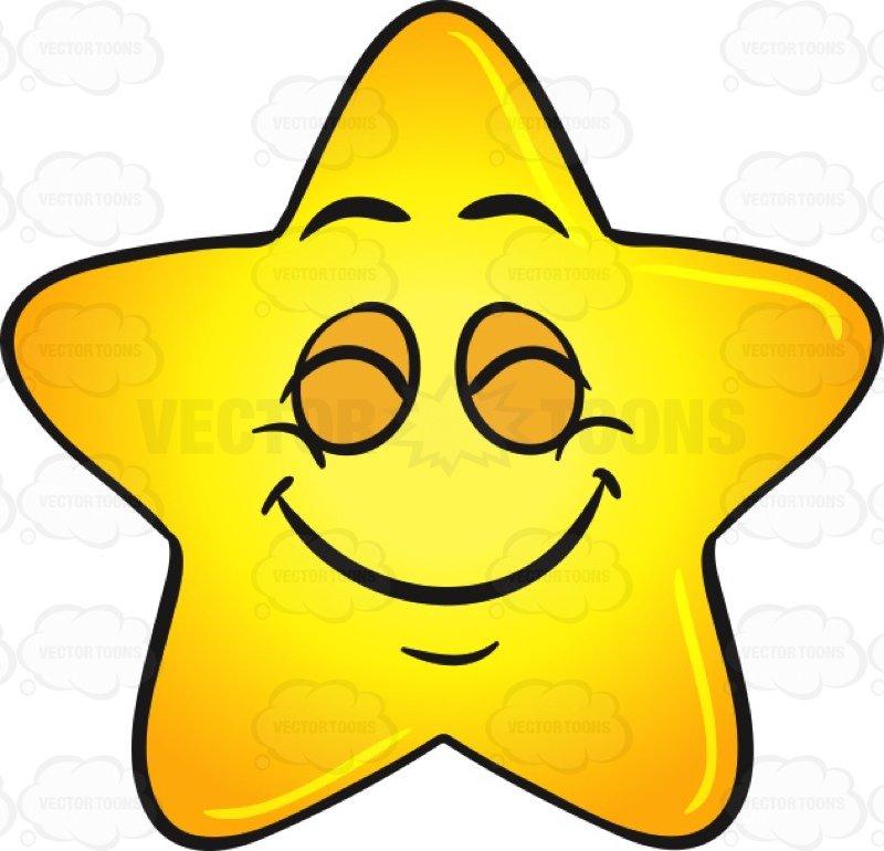 800x770 Single Gold Star Cartoon Delighted With Satisfaction Emoji Cartoon