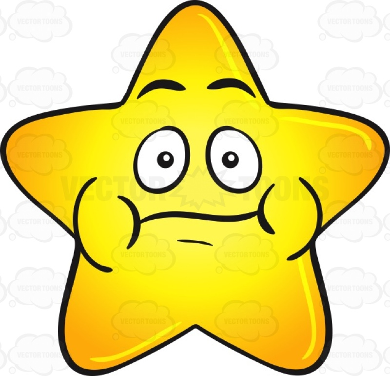800x770 Single Gold Star Cartoon With Puffy Cheeks Emoji Cartoon Clipart