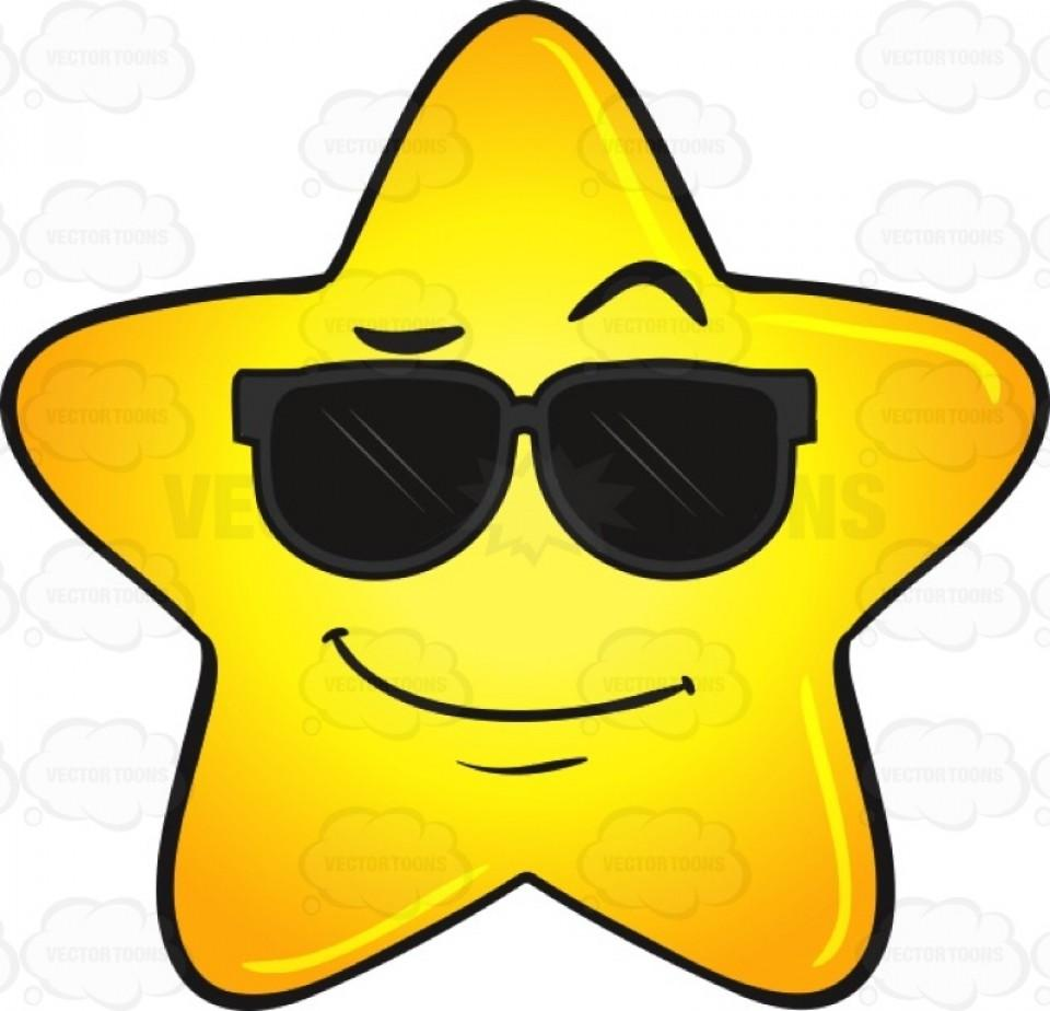 960x924 Top 10 Excellent Cool Gold Star Wearing Sunglasses Emoji Picture Image