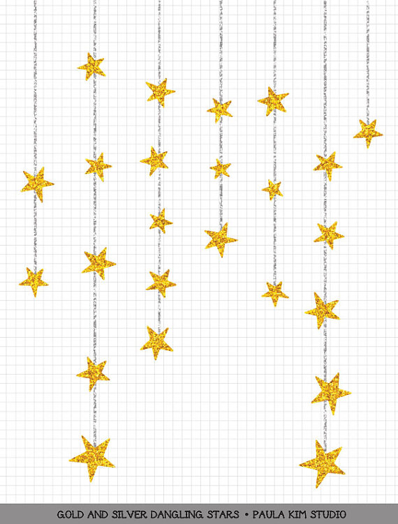 570x751 Dangling Gold Star Clipart Gold Glitter Clip Art Commercial