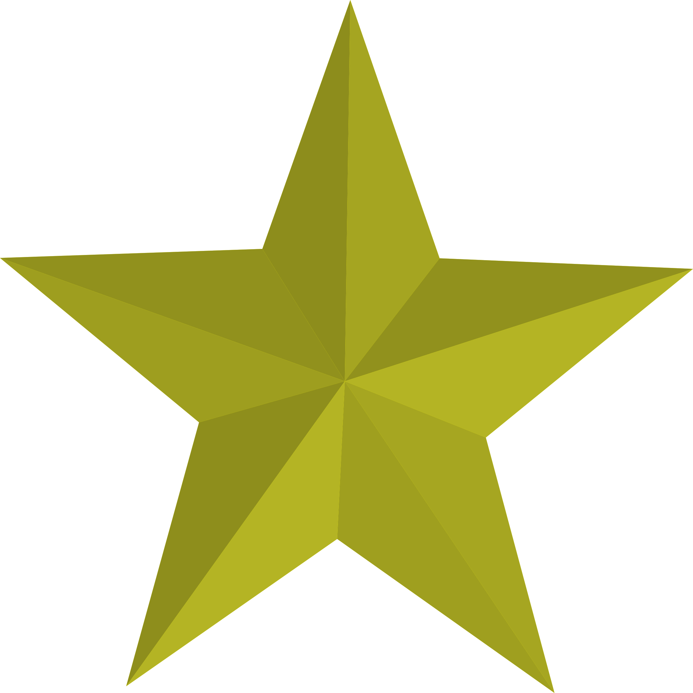 2401x2400 Five Clipart Gold Star