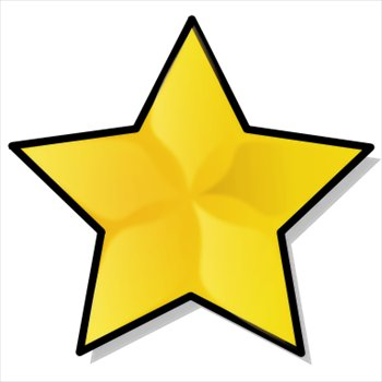 350x350 Free Large Gold Star Clipart