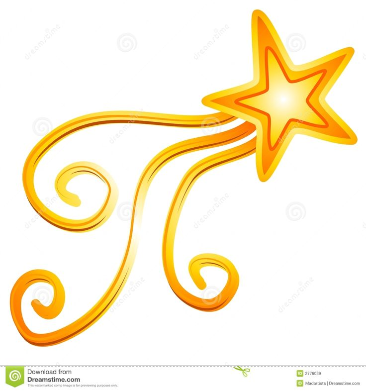 736x786 Gold Shooting Star Clipart