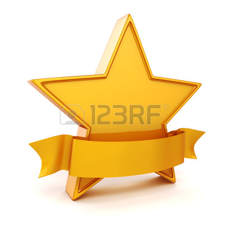 450x450 3d Gold Star On White Background Stock Photo, Picture And Royalty