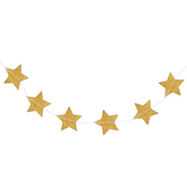 640x640 Buy 2m Gold Star Garland Golden Christmas Galaxy