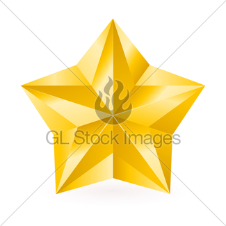 325x325 Shiny Gold Star Gl Stock Images
