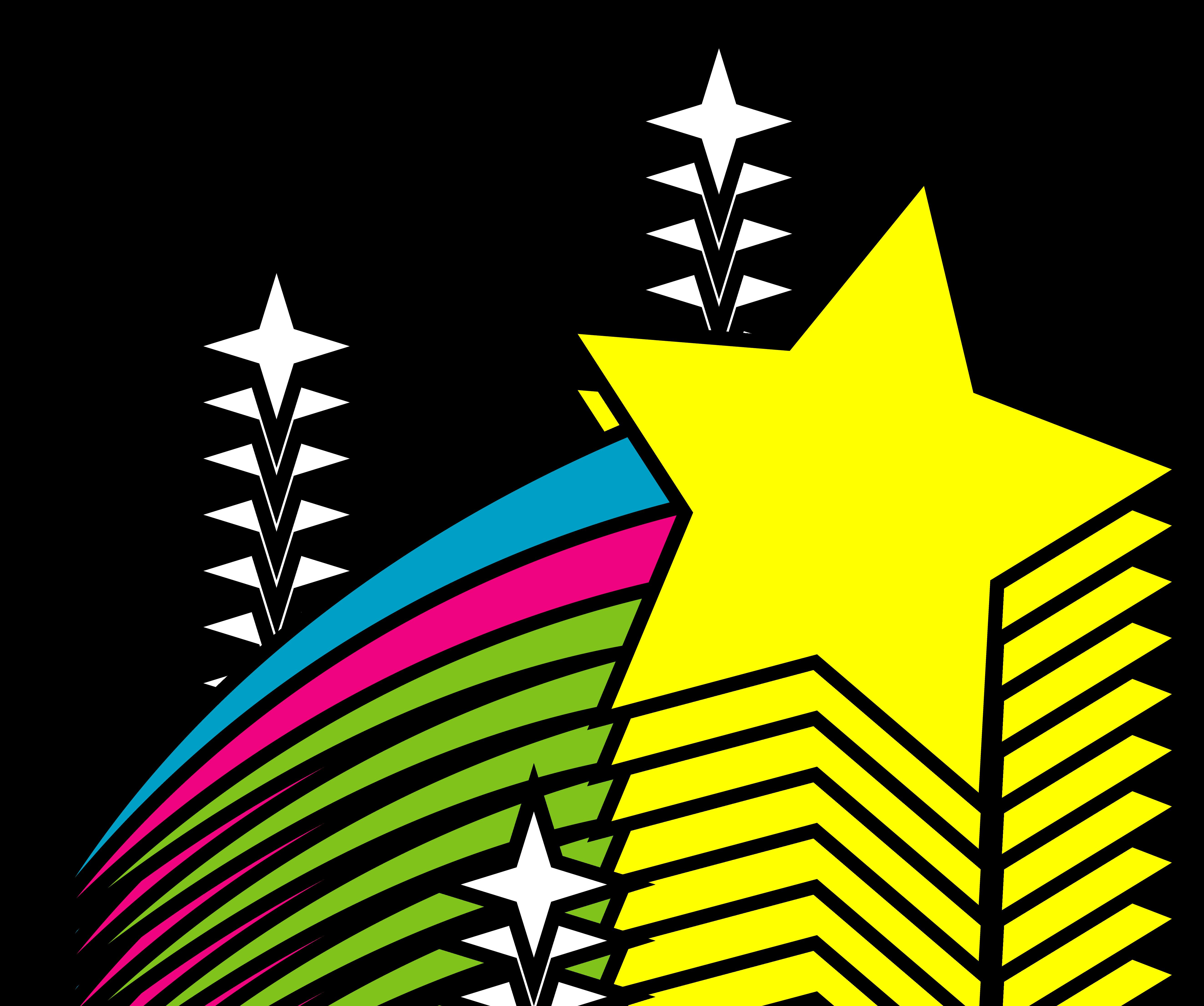 5292x4424 Shooting Stars Clipart