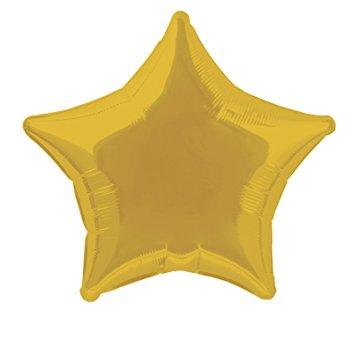 353x355 20'' Foil Gold Star Balloon Childrens Party Supplies