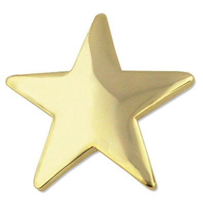 395x395 Gold Star Lapel Pins Brooches And Pins Jewelry