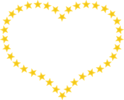 495x401 Gold Star Border Clipart