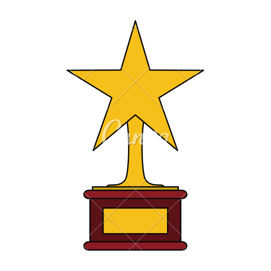 550x550 Gold Star Trophy Icon