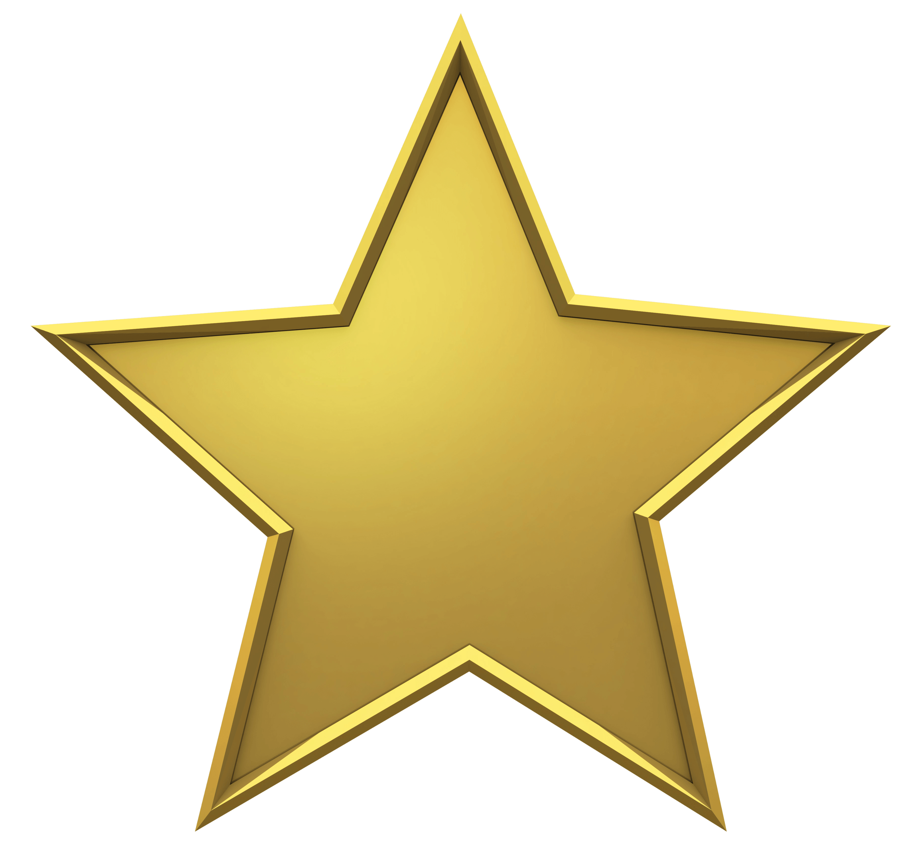 3000x2851 Hollywood Gold Star Transparent Png