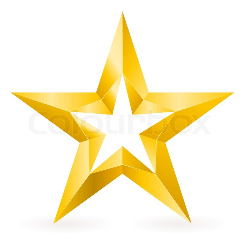 800x800 Shiny Gold Star Stock Vector Colourbox