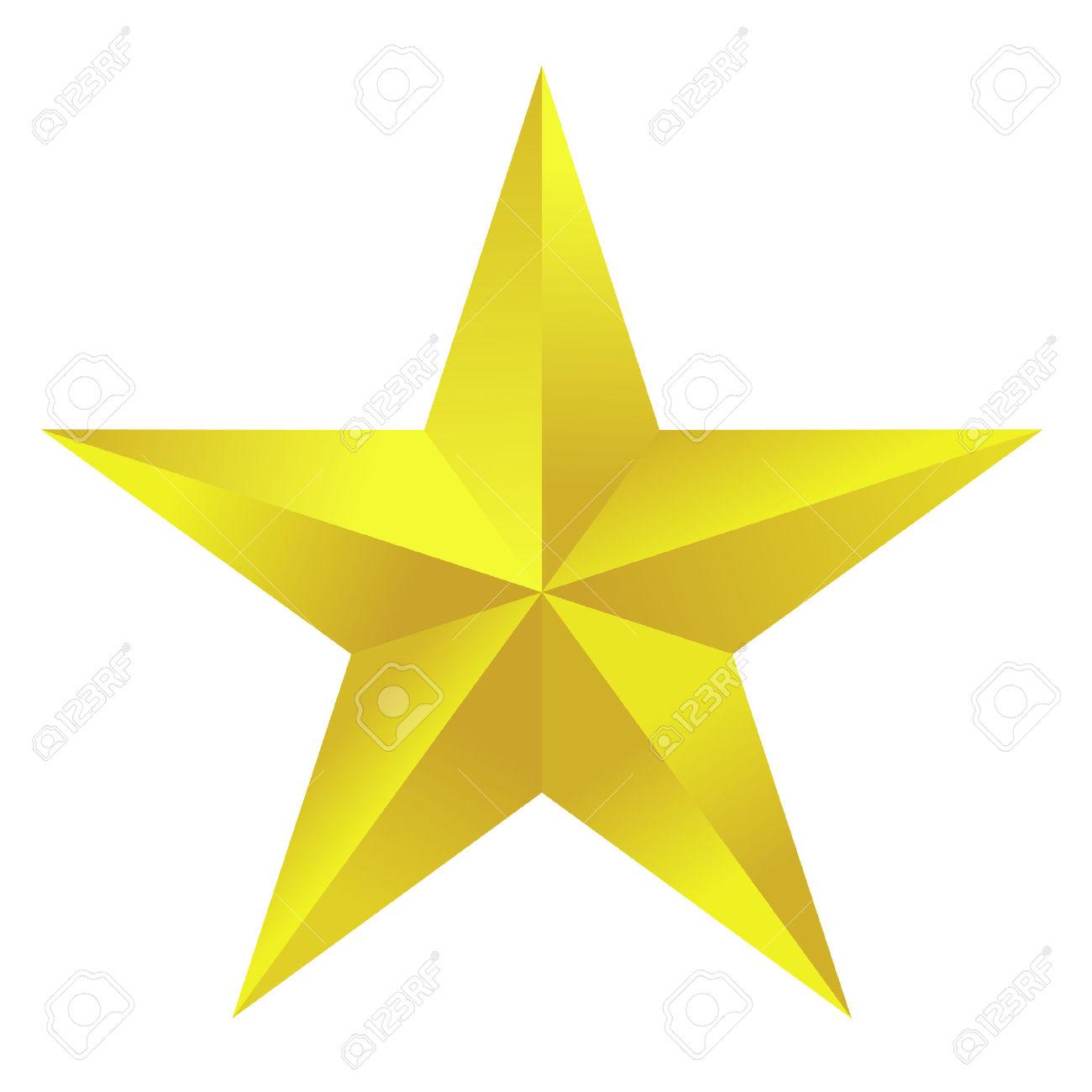 1300x1300 Star Clipart Golden