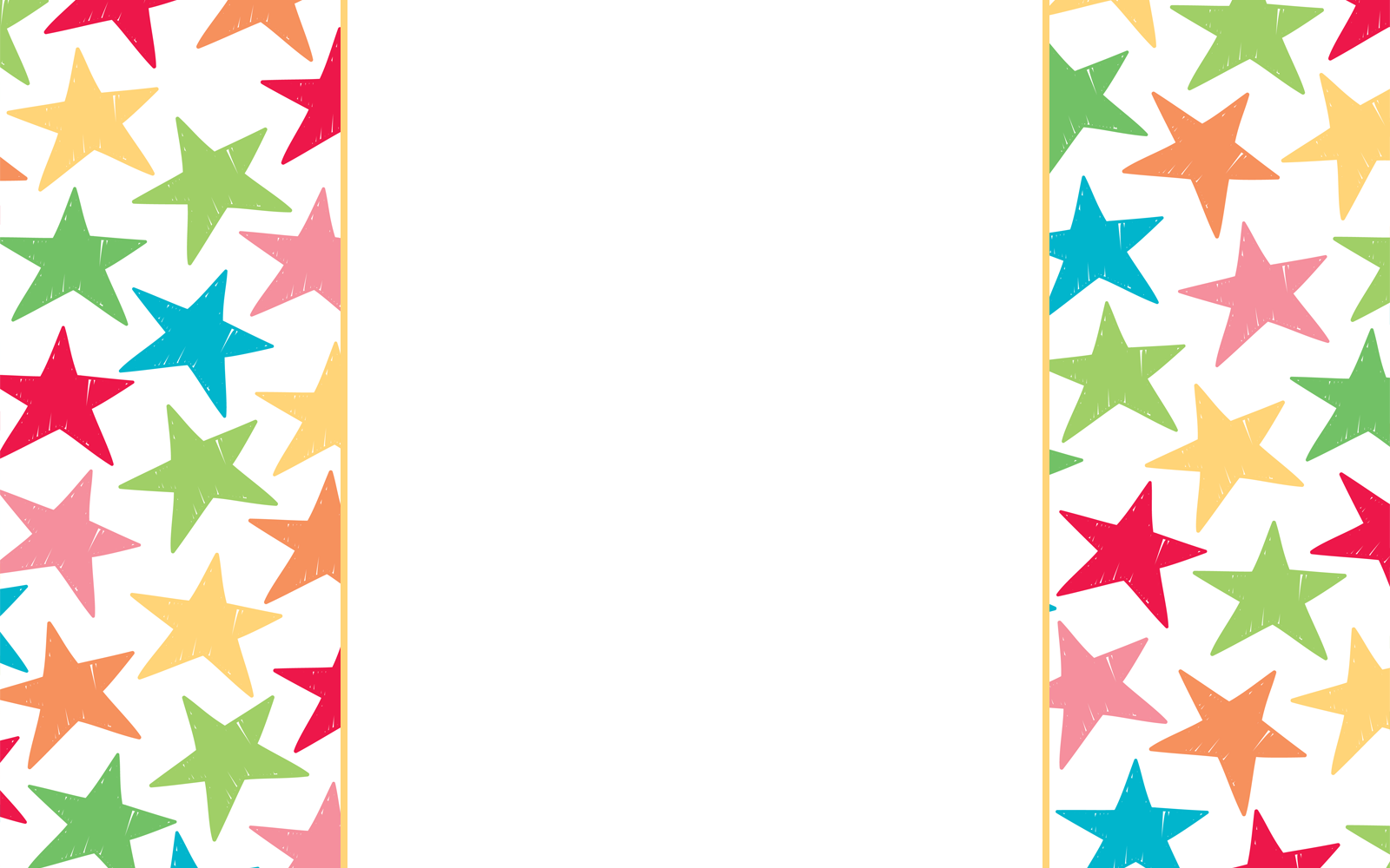 1600x1000 Gold Star Frame Clipart
