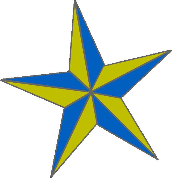 576x599 Bluegold Naut. Star Clip Art