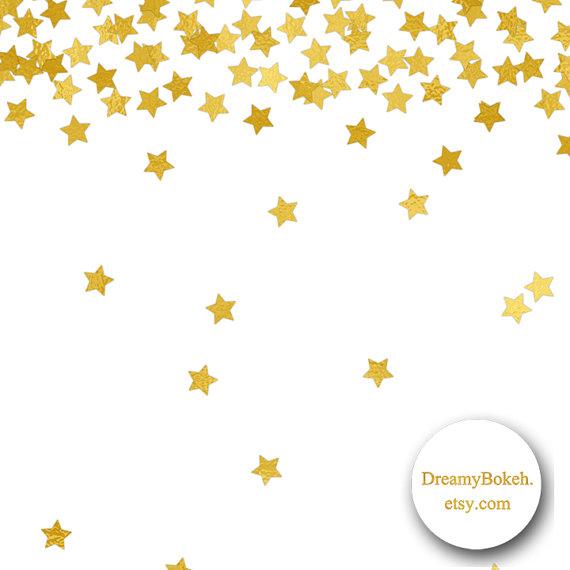 570x570 Gold Foil Stars Confetti Digital Paper Frames Borders 12x12