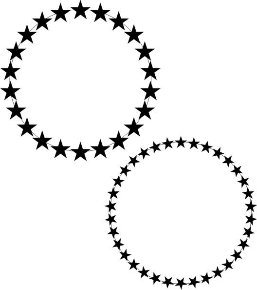 528x594 Circle Of Stars Clip Art Cliparts