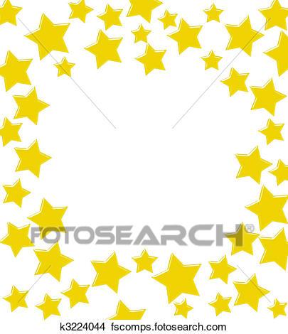 405x470 Drawings Of Winning Gold Star Border K3224044