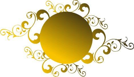 Gold Swirl Clipart