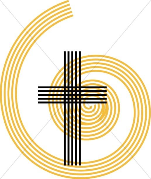 517x612 Swirls And Christian Cross Clipart Cross Clipart