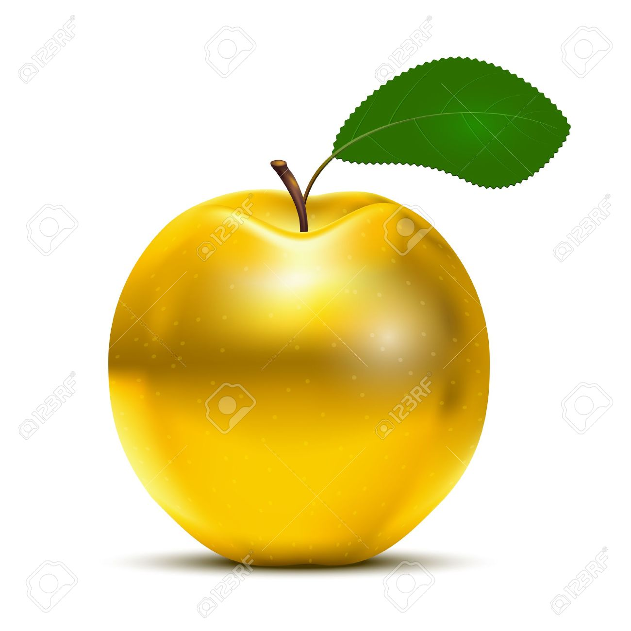 Golden Apple Clipart