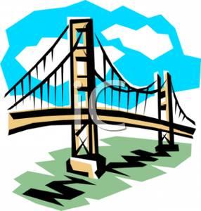 286x300 Free Clipart Image The Golden Gate Bridge