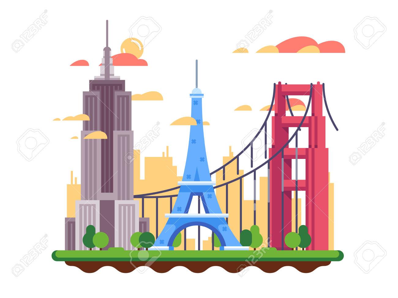 1300x975 Golden Gate Clipart Building