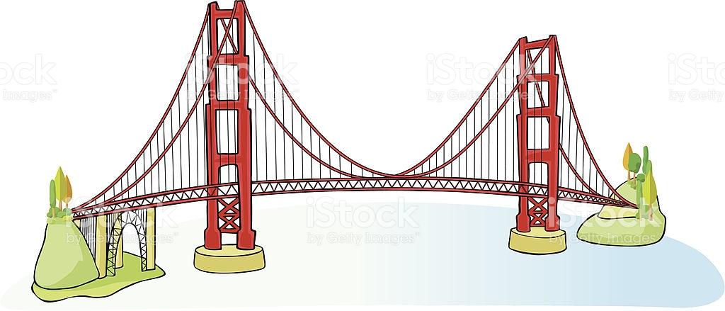 1024x439 Golden Gate Clipart Cartoon