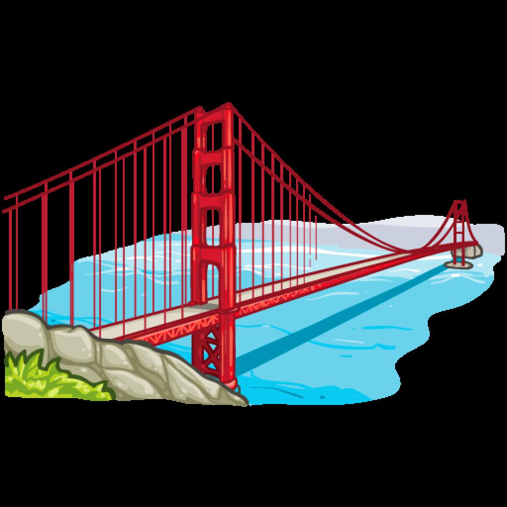 1024x1024 Golden Gate Clipart Place