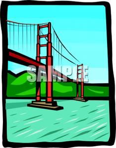 234x300 Art Image The Golden Gate Bridge In San Francisco, California