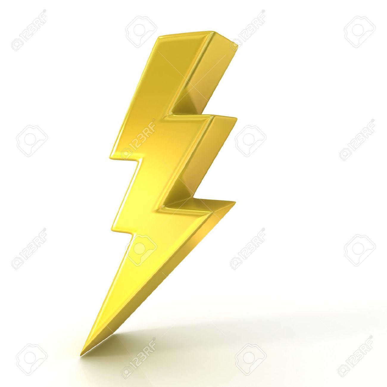 Golden Lightning Bolt