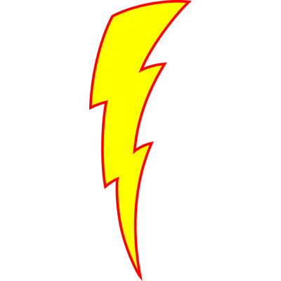 400x400 Drawn Lightning Fake