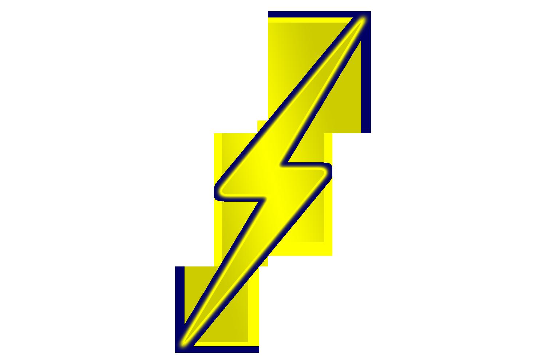 1500x1000 Free Clipart Lightning Bolt