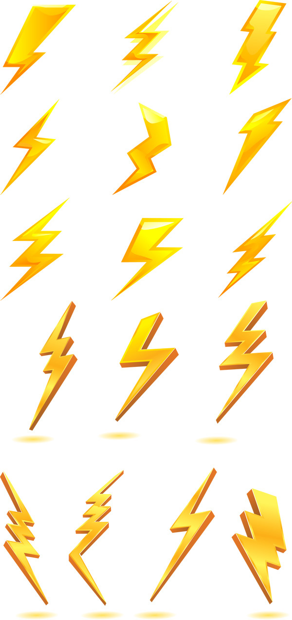 600x1271 Golden Lightning Bolt Icon Clipart Panda