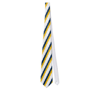 324x324 Blue And Gold Striped Ties Zazzle