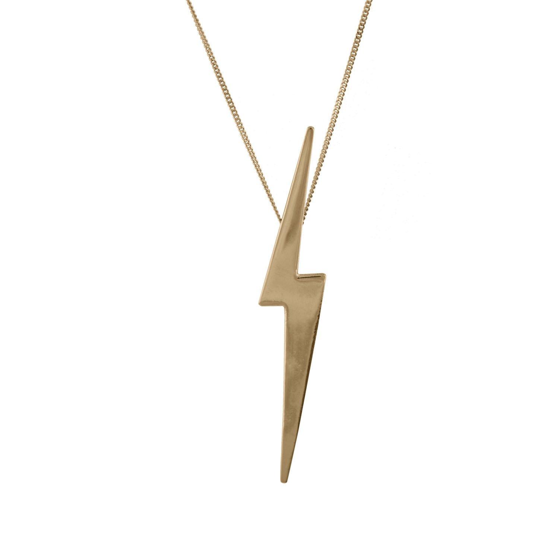 1500x1500 Skinny Lightning Bolt Pendant In 14 Carat Gold Edge Only
