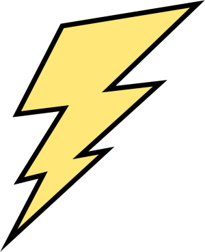300x369 Blue Lightning Bolt Clipart Free Clipart Images