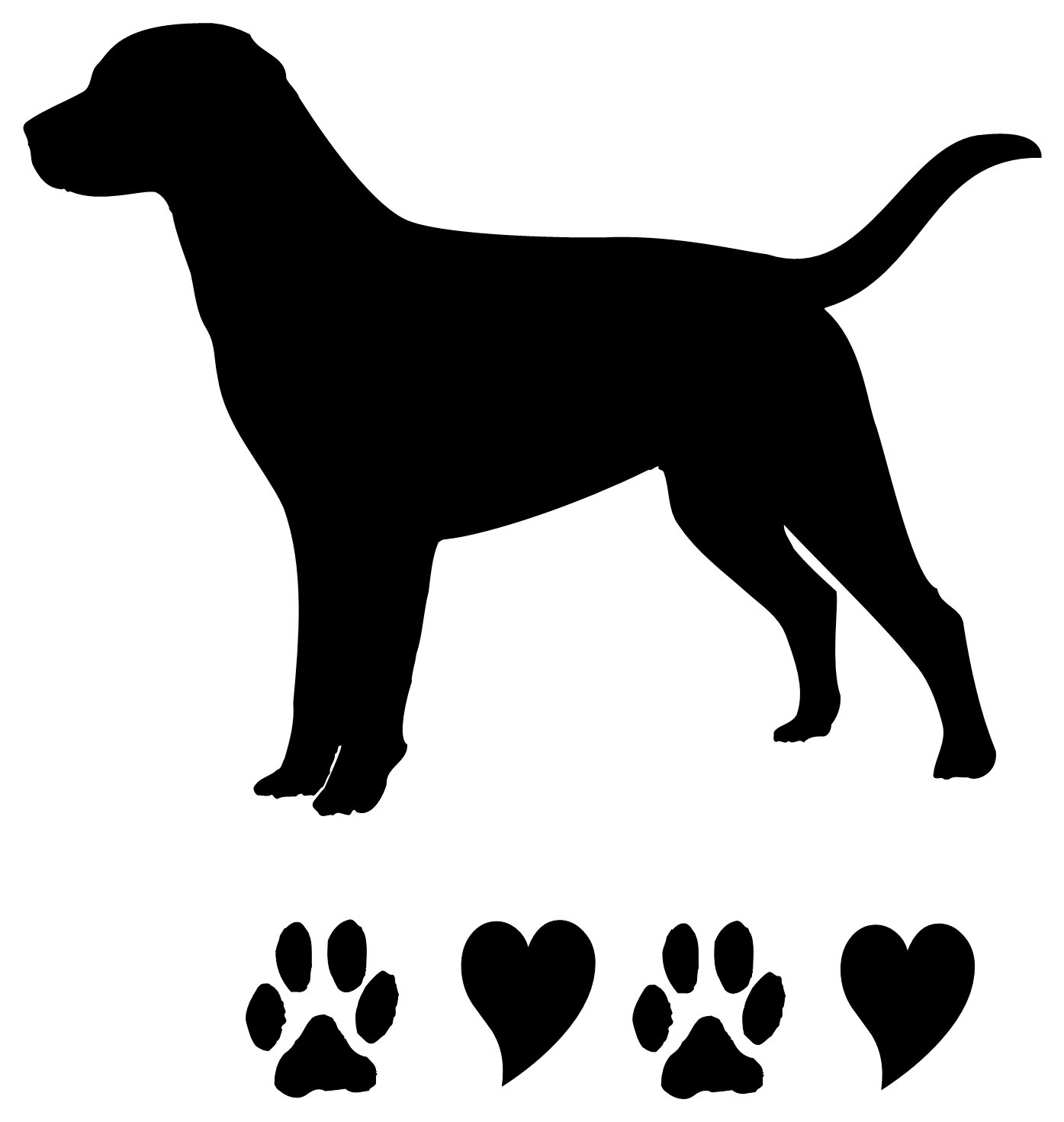 1395x1471 Golden Retriever Silhouette Clip Art