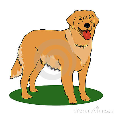 400x400 Cartoon Clipart Golden Retriever