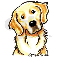 236x236 Golden Retriever Cartoon Clipart