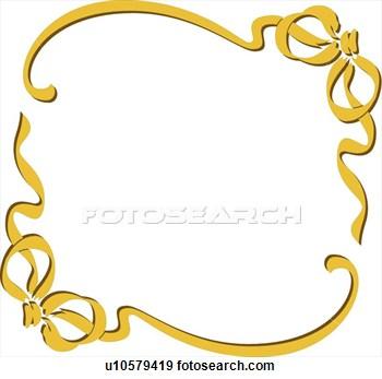 350x347 Golden Frame Clipart