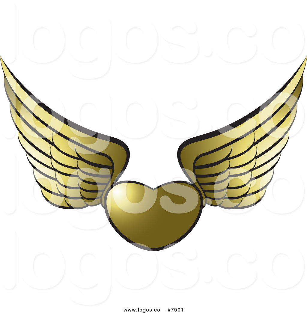 1024x1044 Gold Wings Clip Art