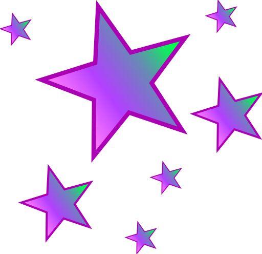 512x495 Falling Stars Clipart Golden Star