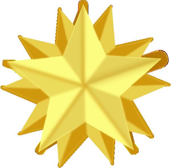 600x588 Gold Star Golden Star Clip Art