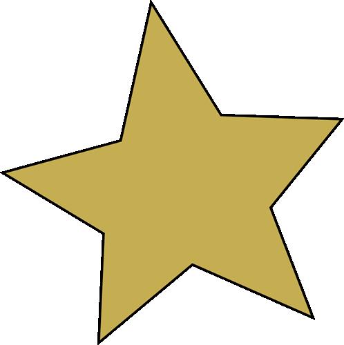 498x500 Golden Clipart Gold Star