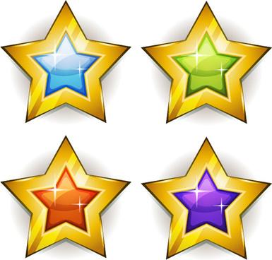 385x368 Golden Clipart Shining Star