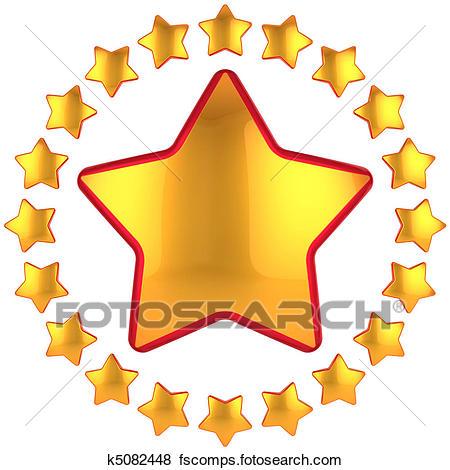 450x470 Stock Illustration Of Golden Star Award K5082448