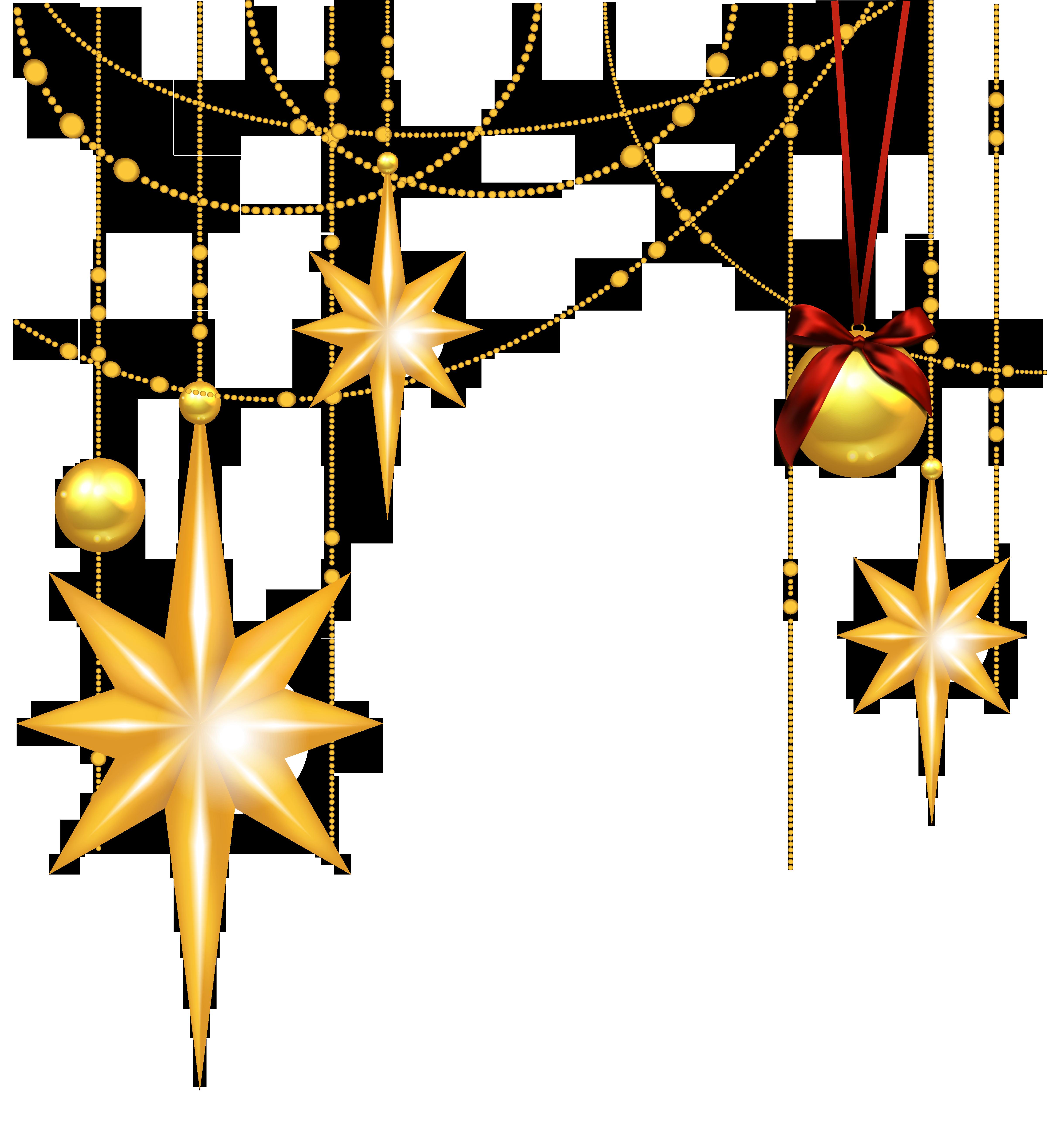 4861x5264 Golden Christmas Star Clip Art Cliparts