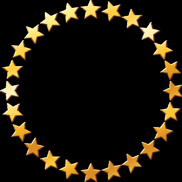 600x600 Golden Stars (Psd) Officialpsds